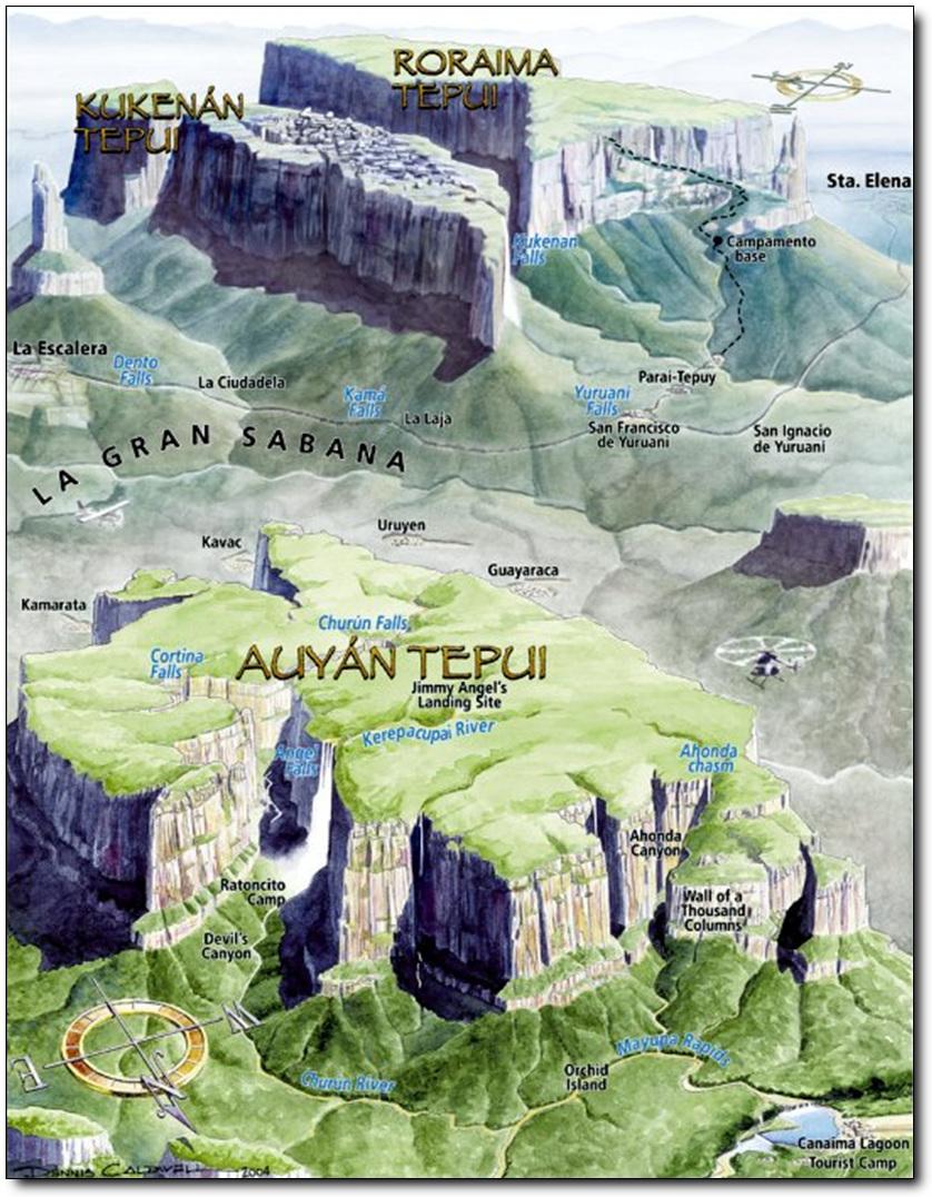 Карта Рораймы